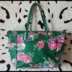 Kate Spade New York Grant Street Green Floral Tote